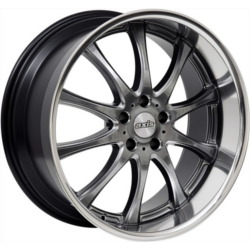 Axis OPTION Hyperblack W/ Machine Polish 20X9 5-120 Wheel
