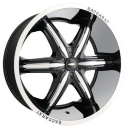 Baccarat OUTRAGE Black W/ Machined Lip 22X10 6-139.7 Wheel