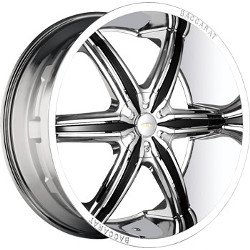 Baccarat OUTRAGE Chrome 24X10 6-135 Wheel