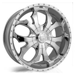 V-Rock OVERDRIVE Chrome 22X9 6-139.7 Wheel