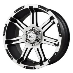 V-Rock OVERDRIVE Matte Black/Machined 18X9 5-127 Wheel