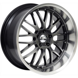 Axis PENTA Hyperblack W/ Machine Polished Lip 20X9 5-114.3 Wheel