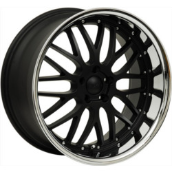 Axis PENTAGON Matte Black W/ Chrome Ss Lip 19X10 5-114.3 Wheel