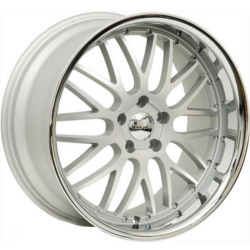 Axis PENTAGON Matte Silver W/ Chrome Ss Lip 19X10 5-120 Wheel