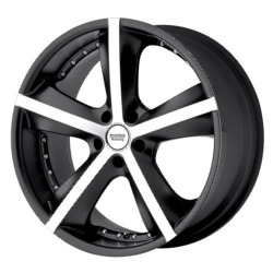 American Racing Hot Rod PHANTOM Matte Black Machined 20X9 5-115 Wheel