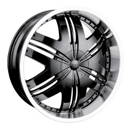 DIP PHOENIX Black/Machined 24X9 5-135 Wheel