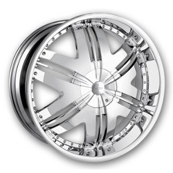 DIP PHOENIX Chrome 22X10 5-120 Wheel