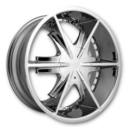 Strada PISTOLA Chrome 22X10 6-135 Wheel