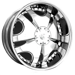 Strada PRESSURE POINT Chrome 20X9 6-114.3 Wheel