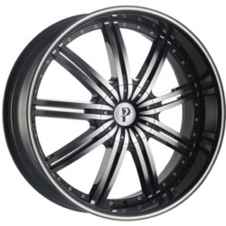 Phino PW-118 STARKII Blackmachinedface&Lip 17X7 4-114.3 Wheel