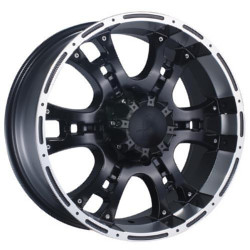 Phino PW-158 RUGGETONE Matteblackmachinedfaceandlip Wheel