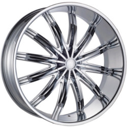 Phino PW-28 GENEVA12 Chrome 24X10 5-115 Wheel