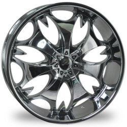 Phino PW-68-FANG Chrome 24X10 5-115 Wheel
