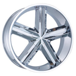 Phino PW-98D-RONTE Chrome 22X10 5-127 Wheel