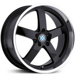 Beyern RAPP Gloss Black W/Mirror Cut 17X8 5-120 Wheel