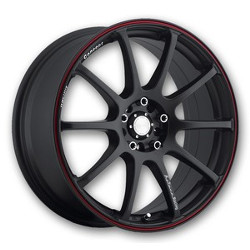 Katana Racing RC10 Matte Black W/ Red Stripe 18X8 5-100 Wheel