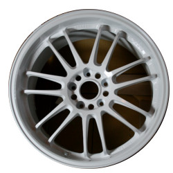 Volk Racing RE30 Champ White 17X9 5-114.3 Wheel