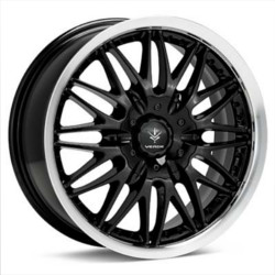 Verde REGENCY Gloss Black/Machined lip 18X8 5-108 Wheel