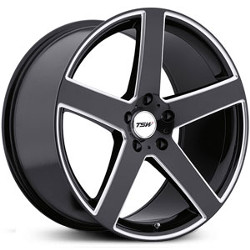 TSW RIVAGE Gloss Black W/ Milled Spoke 19X10 5-120 Wheel