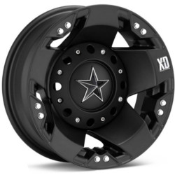 KMC-XD Series ROCKSTAR Dually Matte Black Rear Wheel