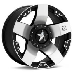 KMC-XD Series ROCKSTAR Matte Black W/ Machined Face 22X10 5-139.7 Wheel