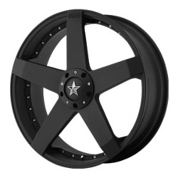 KMC ROCKSTAR CAR Matte Black 20X8 5-112 Wheel