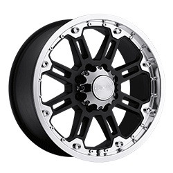Black Rhino ROCKWELL Gloss Black W/Machine Lip 17X9 5-139.7 Wheel