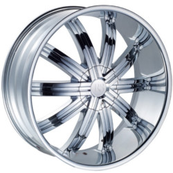 Red Sport RSW11 Chrome 24X10 5-135 Wheel