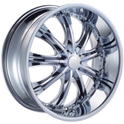 Red Sport RSW33 Chrome 22X10 6-139.7 Wheel