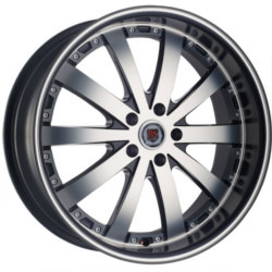 Red Sport RSW77A Dark Flat Black Machined Face 22X9 5-127 Wheel