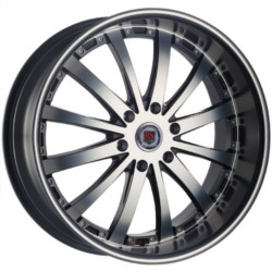 Red Sport RSW77B Dark Flat Black Machined Face Wheel