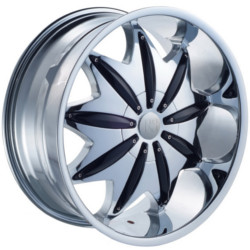Red Sport RSW88 Chrome W/ Black Inserts 22X10 5-135 Wheel
