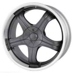 Sacchi S22 Hyperblack/Machined 16X7 4-100 Wheel