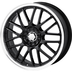 Sacchi S25 Black/Machined 17X7 4-100 Wheel