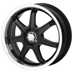 Sacchi S35 Black/Machined 17X7 4-100 Wheel