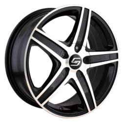 Sacchi S48 Black/Machined 16X7 5-114.3 Wheel