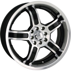 Sacchi S52 Black/Machined 17X7 4-100 Wheel
