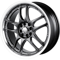 Sacchi S55 Hyperblack/Machined 18X8 4-114.3 Wheel