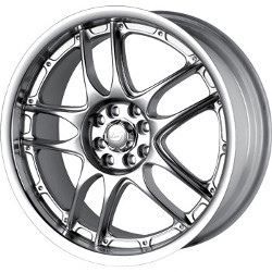 Sacchi S55 Hypersilver/Machined 17X7 4-114.3 Wheel