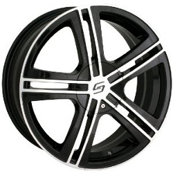 Sacchi S62 Black/Machined 17X7 5-115 Wheel