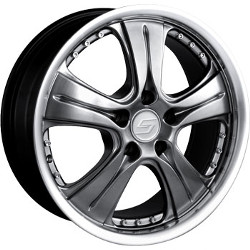 Sacchi S65 Hyperblack/Machined Wheel