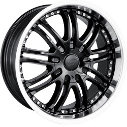 Sacchi S95 Black/Machined 22X10 4-100 Wheel