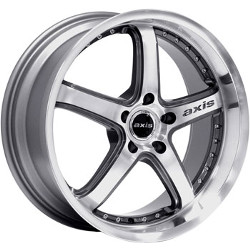 Axis SHINE Machined Face Graphite Accents W/ Diamond Lip 19X10 5-114.3 Wheel