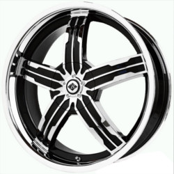 Black Ice SIGMA Black w/Chrome 20X8 5-108 Wheel