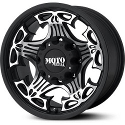 Moto Metal SKULL Gloss Black Machined Face 18X9 5-127 Wheel
