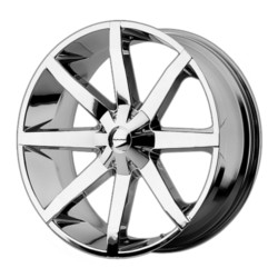 KMC SLIDE Chrome 20X9 6-139.7 Wheel