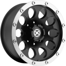 American Racing Atx SLOT Satin Black Machined 17X8 5-127 Wheel