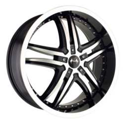 Mazzi SMOKE Black W/ Machined Lip 18X8 5-120 Wheel
