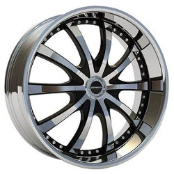 Strada SOLE Black W/ Machined Face 22X10 6-114.3 Wheel