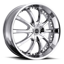 Strada SOLE Chrome 24X10 5-120 Wheel